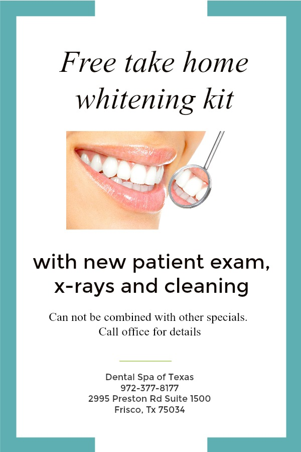 Dental spa of Texas special- frisco  free whitening